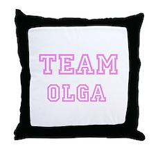 Pink team Olga Throw Pillow