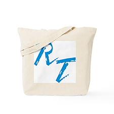 RT, blue Tote Bag
