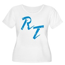RT, blue T-Shirt