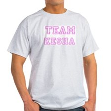 Pink team Kesha Ash Grey T-Shirt