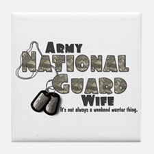 National Guard Wife - Digital Tile Coaster