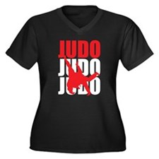 Judo Women's Plus Size V-Neck Dark T-Shirt