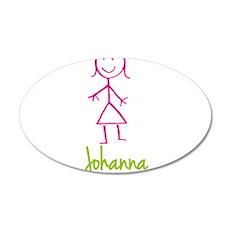 Johanna-cute-stick-girl.png Wall Decal