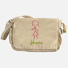 Johanna-cute-stick-girl.png Messenger Bag