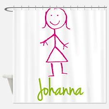 Johanna-cute-stick-girl.png Shower Curtain