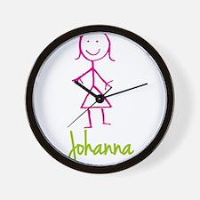 Johanna-cute-stick-girl.png Wall Clock