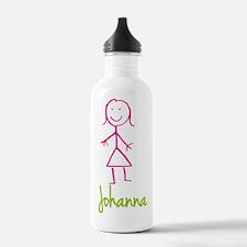 Johanna-cute-stick-girl.png Water Bottle