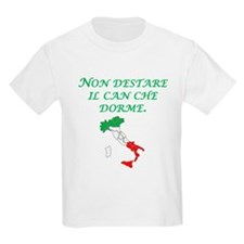 Italian Proverb Sleeping Dogs T-Shirt