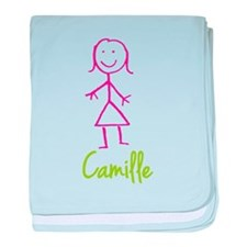 Camille-cute-stick-girl.png baby blanket