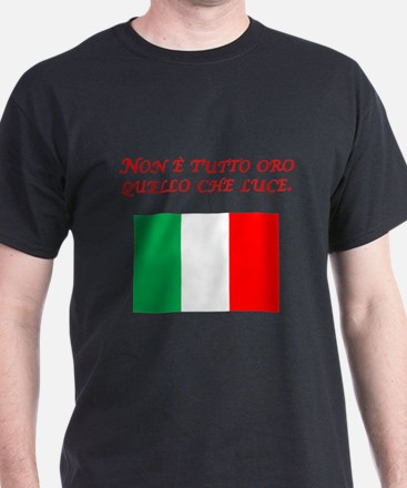 Italian Proverb All That Glitters T-Shirt
