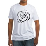 Squiggle Dog 01 Fitted T-Shirt