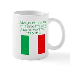 Italian Proverb Evil Good Mug