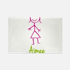 Aimee-cute-stick-girl.png Rectangle Magnet