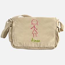 Aimee-cute-stick-girl.png Messenger Bag