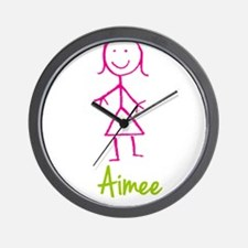 Aimee-cute-stick-girl.png Wall Clock