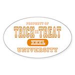 Trick or Treat University Oval Sticker