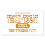 Trick or Treat University Rectangle Sticker