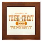 Trick or Treat University Framed Tile