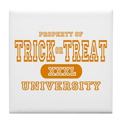 Trick or Treat University Tile Coaster