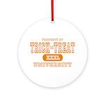 Trick or Treat University Ornament (Round)