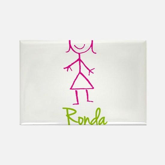 Ronda-cute-stick-girl.png Rectangle Magnet