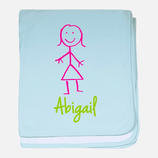 Abigail-cute-stick-girl.png baby blanket