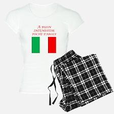 Italian Proverb Good Listener Pajamas