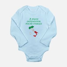 Italian Proverb Good Listener Long Sleeve Infant B
