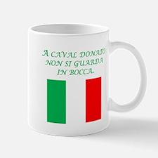 Italian Proverb Gift Horse Mug