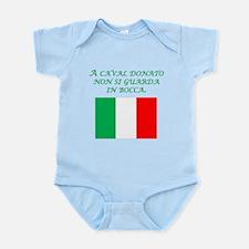 Italian Proverb Gift Horse Infant Bodysuit