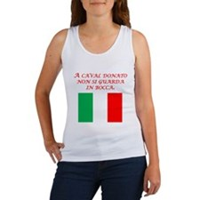 Italian Proverb Gift Horse Women's Tank Top