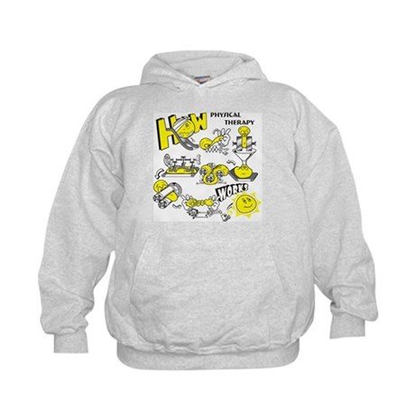 How physical therapy works Kids Hoodie