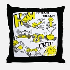 How physical therapy works Throw Pillow