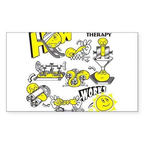 How physical therapy works Sticker (Rectangle)