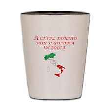 Italian Proverb Gift Horse Shot Glass
