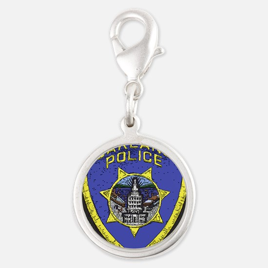 Oakland Police patch Silver Round Charm