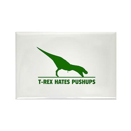 T-REX HATES PUSHUPS Rectangle Magnet (100 pack)