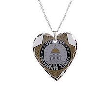 Sacramento County Sheriff badge Necklace