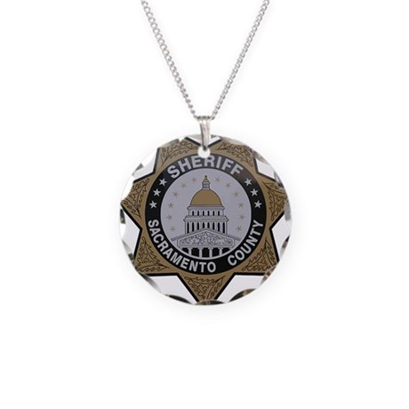 Sacramento County Sheriff badge Necklace Circle Ch