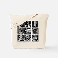 Fetal ultrasound images Tote Bag