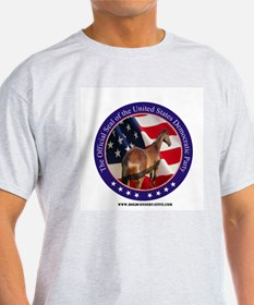 New Democrat Seal Ash Grey T-Shirt