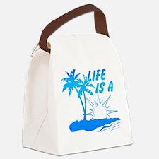 Life Is A Beach Canvas Lunch Bag