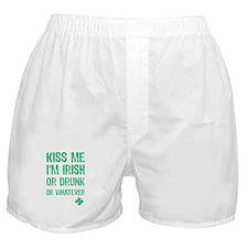 Funny Kiss Me I'm... Boxer Shorts