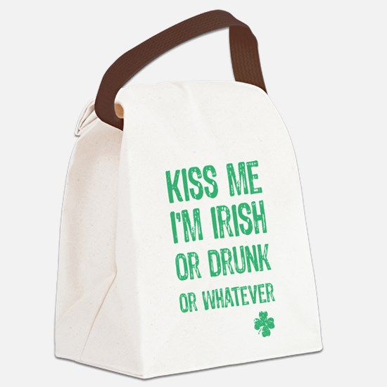 Funny Kiss Me I'm... Canvas Lunch Bag
