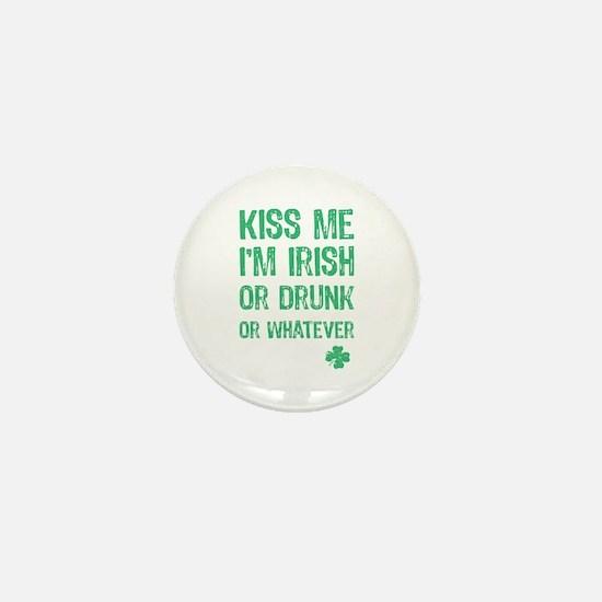 Funny Kiss Me I'm... Mini Button