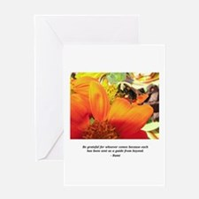 Rumi Bee Gifts Greeting Card