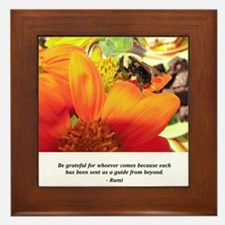 Rumi Bee Gifts Framed Tile