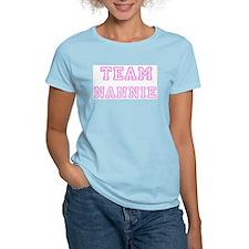 Pink team Nannie Women's Pink T-Shirt