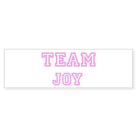 Pink team Joy Bumper Sticker