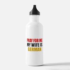 Pray Wife German Water Bottle
